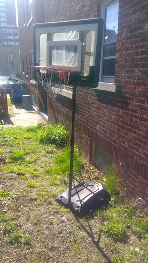 A solid Metal Basketball hoop good condition used. Need s a Hoop. I am in Lakewood Ohio. Solid Metal for Sale in Cleveland, OH
