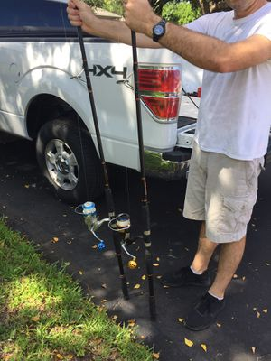 10 foot surf fishing rods and reels for Sale in Plantation, FL