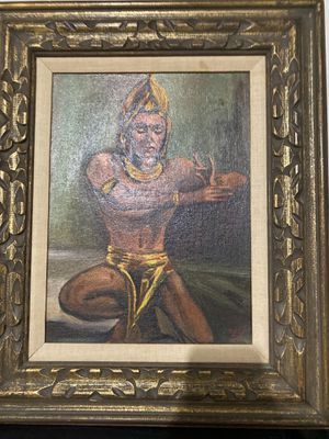 Oil painting of a Bali man for Sale in Leominster, MA