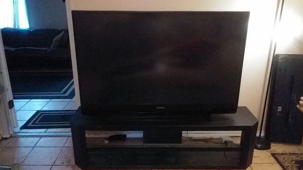 60 INCH MITSUBISHI TV AND STAND