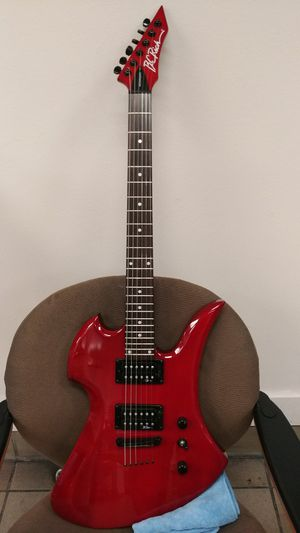 B.C. Rich Mockingbird 6 string guitar. Freshly oiled rosewood fretboard and brand new Ernie Ball Super Slinkys. for Sale in Fontana, CA