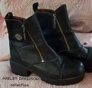 REDUCED. ONLY $50 !! Black Leather, HARLEY BOOTS, Womens SZ 8/med for Sale in New Port Richey, FL
