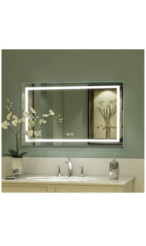 LED Bathroom Mirror, 40 x 24 inch, Anti Fog, Night Light, Dimmable, Touch Button,Superslim,90+ CRI, Waterproof IP44,Both Vertical and Horizontal Wall for Sale in Beverly Hills, CA