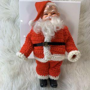 Plastic Santa Clause w/ Handmade Crochet Suit & Felt Hat for Sale in Centerton, AR