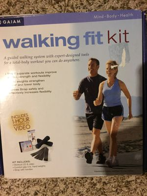 Walking kit including 2 3 lb weights, belt, and dvd for Sale in East Amherst, NY