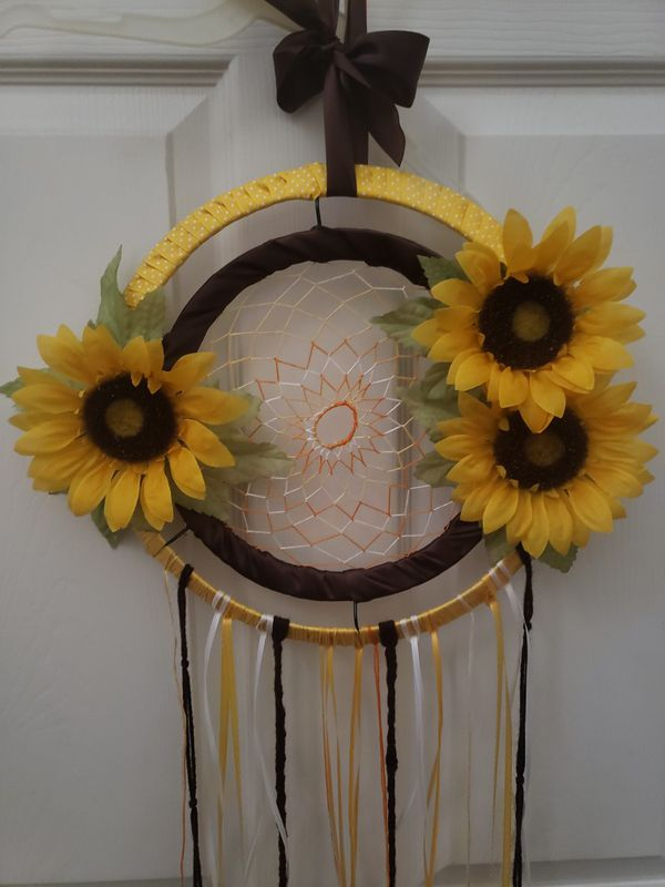 Sunflower Dreamcatcher Handmade