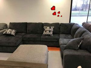 ♻️NEW ASHLEY♻️ Platinum/Smoke Laf/Raf Sectional for Sale in Jessup, MD
