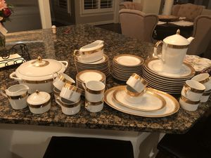 Real porcelain set for 12, made in Poland for Sale in Leesburg, VA