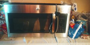 GE stainless steel above range microwave for Sale in Austin, TX