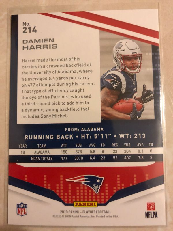 Damien Harris Rookie Card