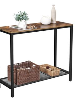 Brand new in the box Industrial Console Table, Sofa Table with Metal Grid Shelf, Strong Metal Frame, Easy Assembly, Living Room for Sale in Rancho Cucamonga,  CA