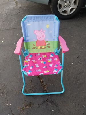 Peppa pig kids folding chair for Sale in Costa Mesa, CA