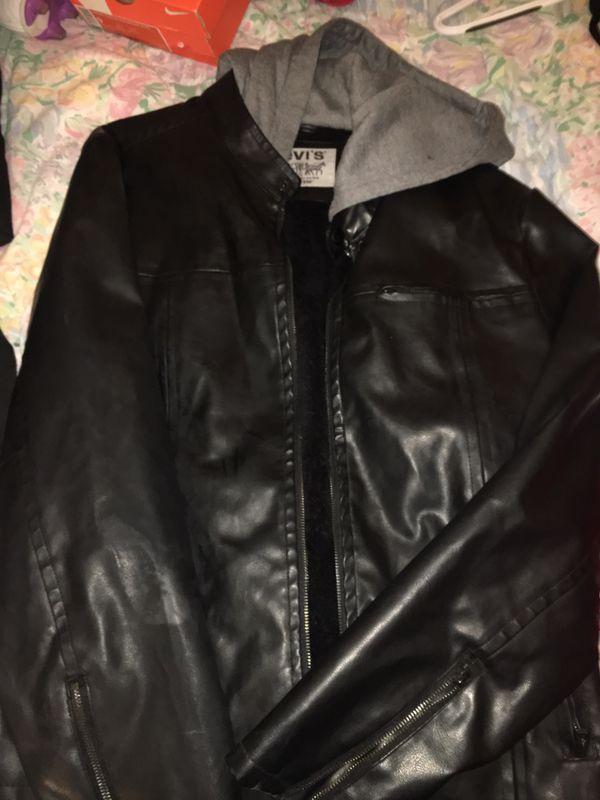 Levi Leather Jacket Mens L