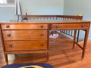 Beautiful wood writing desk with drawers- antique. for Sale in Sterling, VA