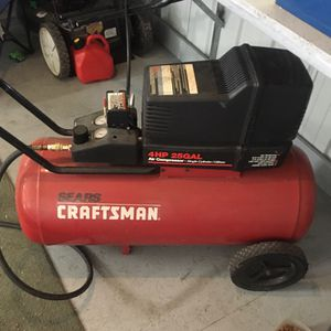Craftsman 4 hp - 25 gallon air compressor with 25 foot of hose. for Sale in Greensboro, NC