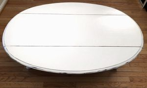Shabby Chic Chalk Painted White Coffee Table for Sale in Crofton, MD