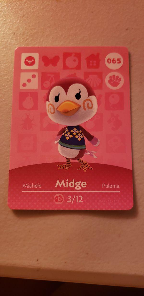 Midge Animal Crossing Amiibo Card