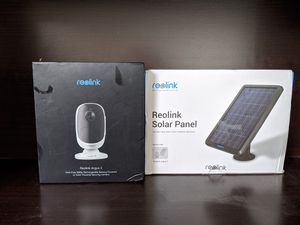 Reolink Argus 2 camera and solar panel for Sale in Fontana, CA