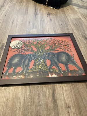 Elephant framed canvas for Sale in Quincy, MA