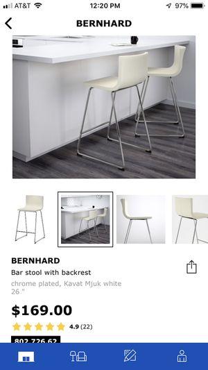 IKEA Bernhard leather bar stools (2) for Sale in Wheaton, MD
