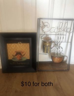 Coffee ☕️ Home Decor $10 for both for Sale in Cherry Valley, CA