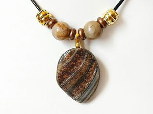 Shell Pendant Necklace With Picasso Jasper Gemstones for Sale in Ephrata, PA