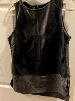 Banana Republic Charcoal & Faux Leather Sleeveless Top for Sale in Philadelphia,  PA