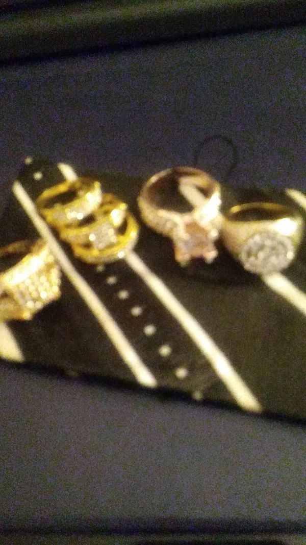 Men & women solid gold plated wedding or fashion rings.