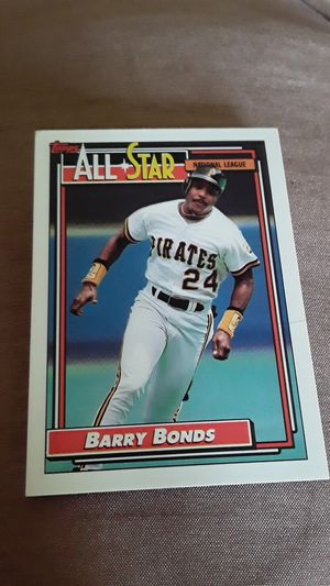 1992 Barry bonds 390 baseball card for Sale in Madison Heights, MI