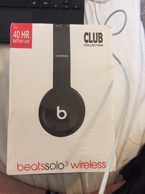 Beats Solo 3 Wireless Matte Black for Sale in Traverse City, MI