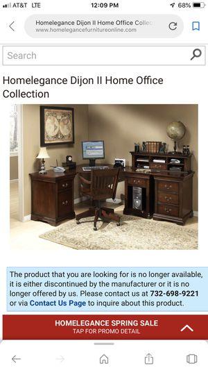 Cherry Redwood Modular Office Desk for Sale in South Jordan, UT