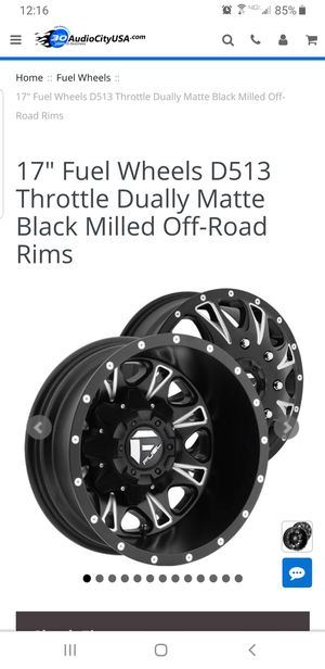 "17"" Fuel wheel Dually for Sale in Tempe, AZ"