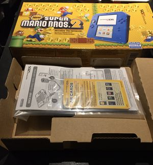 Nintendo 2DS - Electric Blue with New Super Mario Bros. 2 (Box and manual only) for Sale in Broomfield, CO