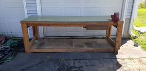 Long wooden workbench for Sale in New Haven, CT