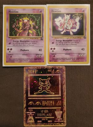 SET OF 3 - Mewtwo #3, Mewtwo #14, and Ancient Mew Holo Promo Pokemon Cards for Sale in Lathrop, CA