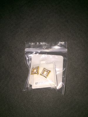 Steel ear rings with diamonds (never worn) for Sale in Columbus, OH