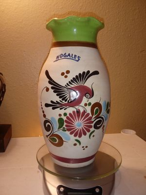 Vintage tonala Sandstone hand-painted vase for Sale in Glendale, AZ