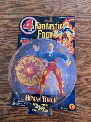 "1996 Fantastic Four Human Torch 5"" Firestorm Action Platform Toy Biz for Sale in Long Beach, CA"