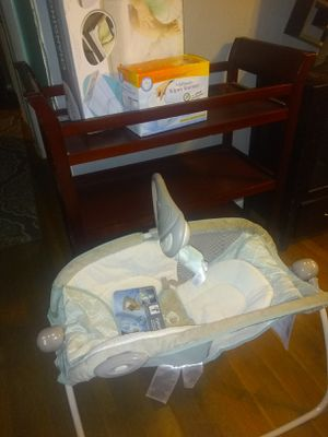 Baby changing table,new baby changing pad,new whipe warmer and new sleeping rocker will deliver for a small fee for Sale in Atlanta, GA