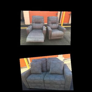 2 CHAIRS RECLINERS AND LOVESEAT for Sale in Oxon Hill, MD