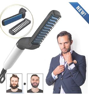 Electric Comb for Men, Man's Style Massage Comb, Hair Straightener for Hair and Beard for Sale in La Habra, CA