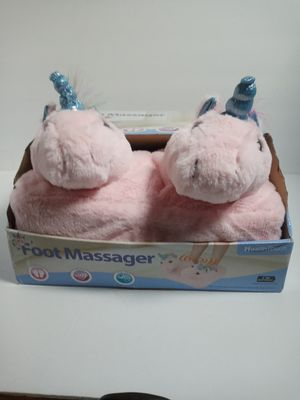 Pink Unicorn Foot Massager Health Touch Massaging Vibration Plush Animal for Sale in Sacramento, CA