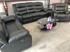 🆒 special. Living room set sofa loveseat chair. Black. Free delivery 🚚 for Sale in Houston, TX