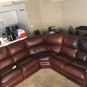 Free Leather Sectional for Sale in Fort Pierce, FL