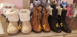 Girls boots 3 pairs for Sale in Yadkinville, NC