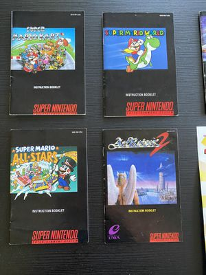 Super Nintendo game instructions and poster for Sale in Pflugerville, TX