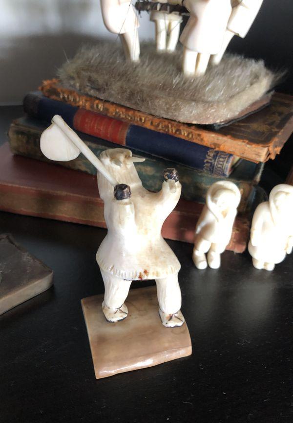 Signed Inuit Bone Carving