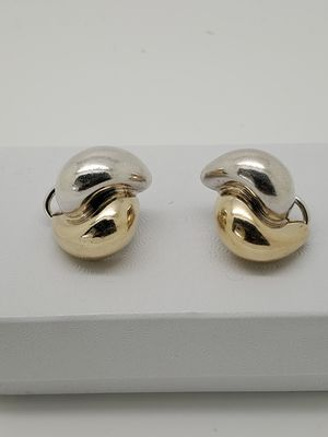 Tiffany And Co. 14kt Gold And Sterling Silver Clip On Earrings for Sale in Port St. Lucie, FL