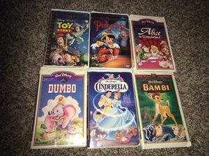 6 piece VHS Disney collection for Sale in Houston, TX