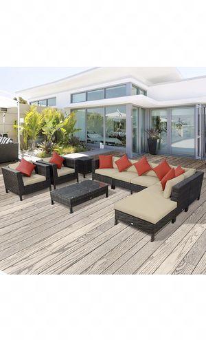 Outdoor furniture, 9pc outdoor patio furniture, patio garden backyard sectional, $2,000 RETAIL! for Sale in Maricopa, AZ